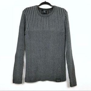 Calvin Klein Jeans Ribbed Crew Neck Sweater Sz Med